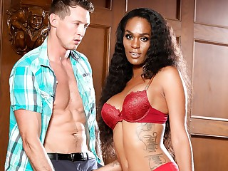 Pierce Paris & Becca Fatale in Interracial Transsexuals, Scene #04 - GenderX