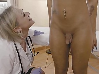 Busty Doc Getting Fucked By A Teen Shemale