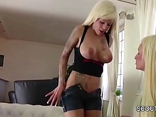 German Teen Seduce Shemale Kimber Lee to Fuck her